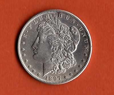1897 Morgan Dollar Silver- San Francisco Mint - Uncirculated