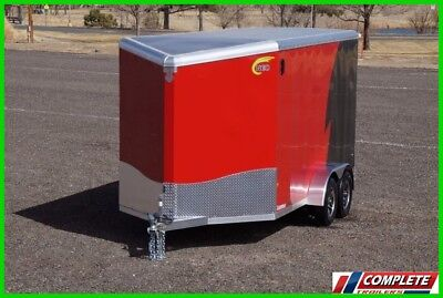 All Aluminum Frame 7x14 V-Nose Enclosed Cargo Motorcycle UTV Trailer