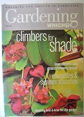Gardening Which? Magazine. May, 2000. Climbers for shade. Courgettes & summer sq