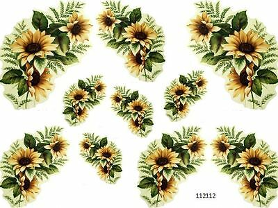 GoRGeouS STeMmeD SuNFLoWeRs SHaBbY DeCaLs