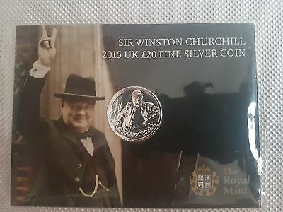 Sir Winston Churchill 2015 £20 silver coin