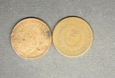 2 Cent Pieces 1868 / 1864..............21726