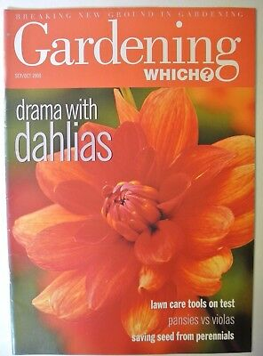 Gardening Which? Magazine. September/October, 2000. Drama with dahlias. Pansies