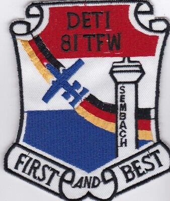 USAF air force DET1  81 TFW SEMBACH FIRST AND BEST Sembach AB patch USAFE