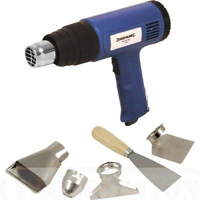 New Heavy Duty Hot Air Gun 2000 Watt with Accessories With Stainless Steel Body