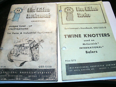 Lot of IH Service Manuals, Engine, Balers and Twine Knotters, Tractors