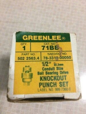 "Greenlee Vintage 1/2"" Conduit Knockout Punch Hand Tool Set No. 71BB"