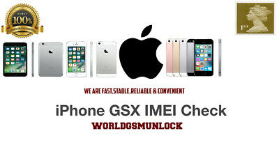 Apple iPhone Official Carrier+SIM Lock+Model+SN By IMEI