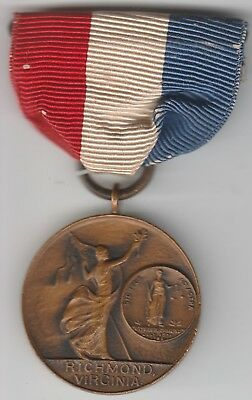 Original WWI US Richmond Virginia Patriotic Service Medal Named with Ribbon Nice