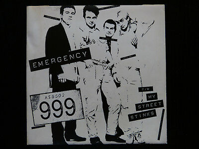 "999 - Emergency 7"" Picture Sleeve (No Disc)"