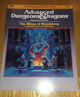 AD&D H2 The Mines of Bloodstone Module TSR Advanced Dungeons & Dragons
