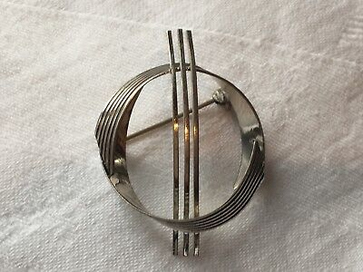 Modernist Silver Brooch