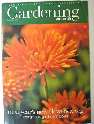Gardening Which? Magazine. December, 2001. Next year's new flowers & veg.