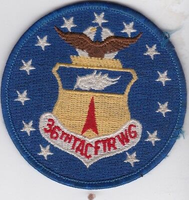 USAF air force 36th TAC FTR WG Bitburg AB Germany USAFE patch