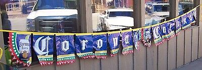 NEW Corona Fiesta Beer Party String Banner Flag Cerveza 16' Long Cinco de Mayo