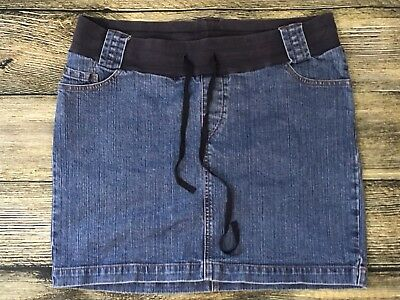 Oh Baby By Motherhood Maternity Jeans Skirt Size Large Blue Denim