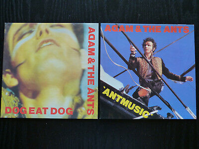 """Adam & The Ants - Dog Eat Dog, Ant Music 7"""" Picture Sleeves (No Discs)"""