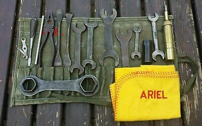 Vintage Classic Ariel Motorcycle Toolkit Vb Fh Vh Nh Square 4 Huntmaster Ht Ssdt
