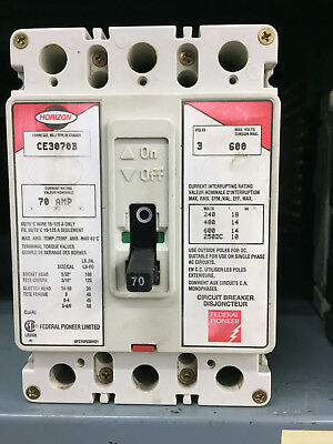 Federal Pioneer FPE Horizon CE3070B 3 Pole 70A 600V *GUARANTEED*