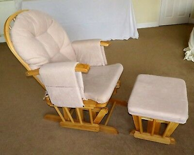 Nursing Chair and Stool with Recline Glider - Used Kiddicare Rocking Chair
