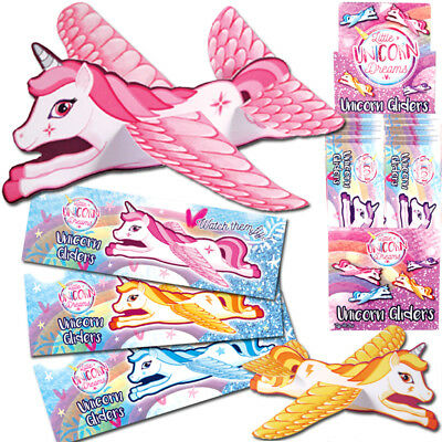 Unicorn Glider Planes Flying Girls Toy Xmas Christmas Birthday Party Bag Fillers