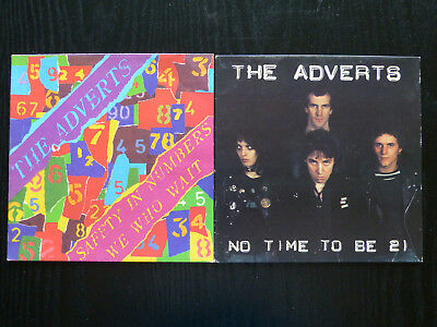 "The Adverts - No Time To Be 21, Safety In Numbers 7"" Picture Sleeves (No Discs)"