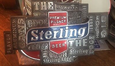 Vintage Sterling Beer  Embossed Sign