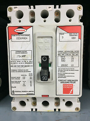 Federal Pioneer FPE Horizon CE3090E4 3 Pole 90A 480V *GUARANTEED*