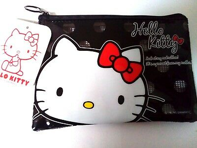 DAISO JAPAN HELLO KITTY Mesh Case BLACK Japan limited item verycute F/S