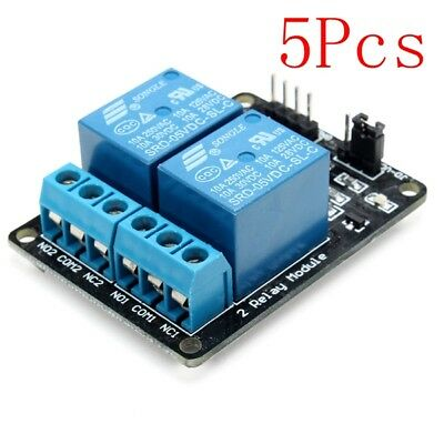 5Pcs 2 Way Relay Module With Optocoupler Protection