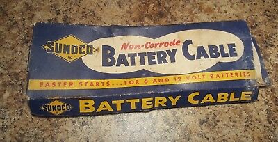 Vtg Sunoco 19-C Battery Cable & Box