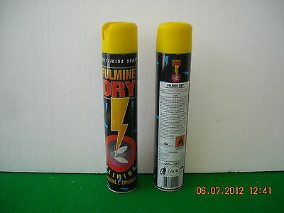 "Ribasso!!!stock 6 Bombolette Insetticida Spray ""fulmine Dry"" Ml 500"