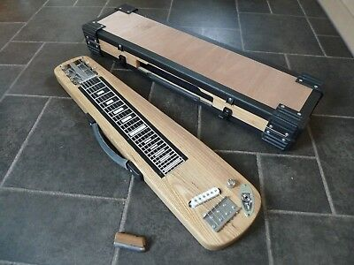 lap steel guitar, electric lap steel solid ash body, fender super champ slide