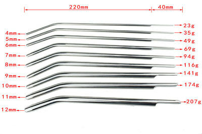 Stainless Steel Male Urethral Probe Ring Erotic Sex Dilatator Stretching Plug