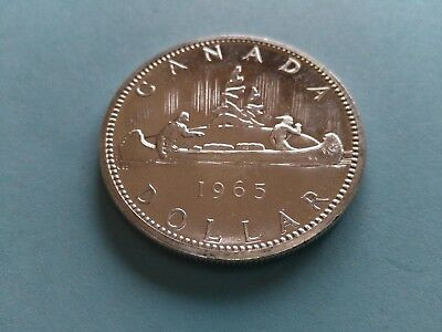 1965 Silver Canadian Dollar ($1), No Reserve!