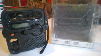 Eton Solarlink FR360 FM Radio, Wind Up, Solar Power, Torch, Phone Charger