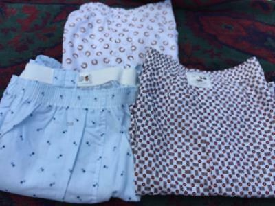 VINTAGE 60's MADE IN US LOT OF3 FRUIT OF THE LOOM SANFORIZED BOXER UNDERWEAR  38