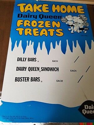 VINTAGE 1974 Dairy Queen Dennis the Menace Take Home Frozen Treats Display