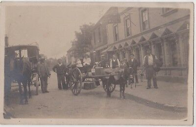 Rp Unidentified Post Office , Street Scene , Delivery Carts Sussex ? C 1916