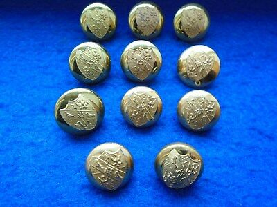 Job Lot Of Magdalene College Cambridge University Gilt Buttons
