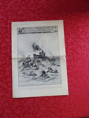 The Lusitania sinking, supplement to the `Graphic` May 15 , 1915