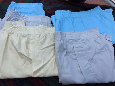 Vintage 70's Lot Of 5 Lee Deadstock Assorted Color Boxers Underwear Usa  Made 38