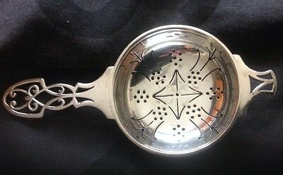 Very Rare Solid Silver Tea Strainer