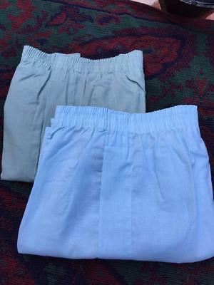 Vintage 70's Lot Of 2 Hanes Deadstock Assorted Color Boxers Underwear Usa   M