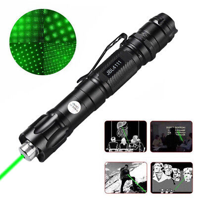 20 Miles Range 1MW 532nm Green 18650 Laser Pointer Pen Visible Beam Lazer USA