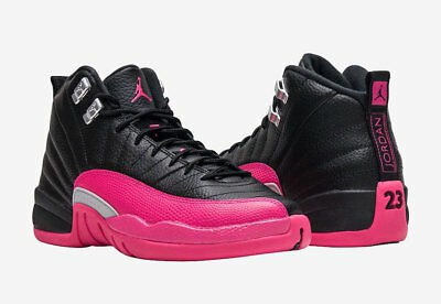 air jordan 12 Retro GG BLACK PINK US YOUTH GRADE SCHOOL EXT SIZES 510815-026