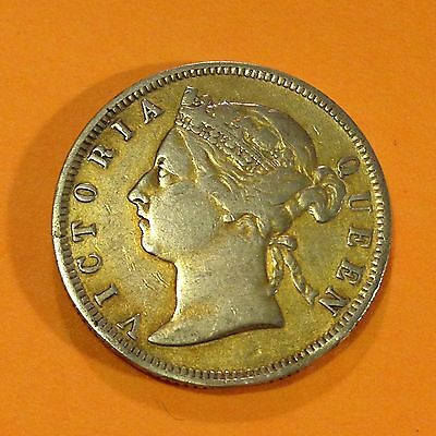 1894,Straits Settlements (Malaysia), 20 Cents, Silver Coin, *Golden Tone*Vintage