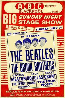 The Beatles Live In The Abc Theatre Blackpool 9X6 Photo  - The Brook Brothers