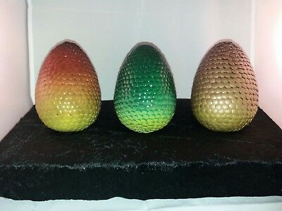 Dragon Egg Set Of 3 Game Of Thrones Collectable Cosplay Fantasy Handmade