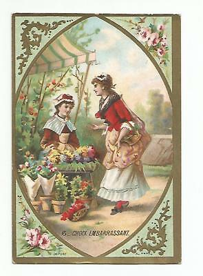 Trade Card Litho Chateline - Croix Embarrassant ( 8 x 11,5 Cm )
